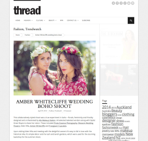 Thread - Amber Whitecliffe Wedding Boho